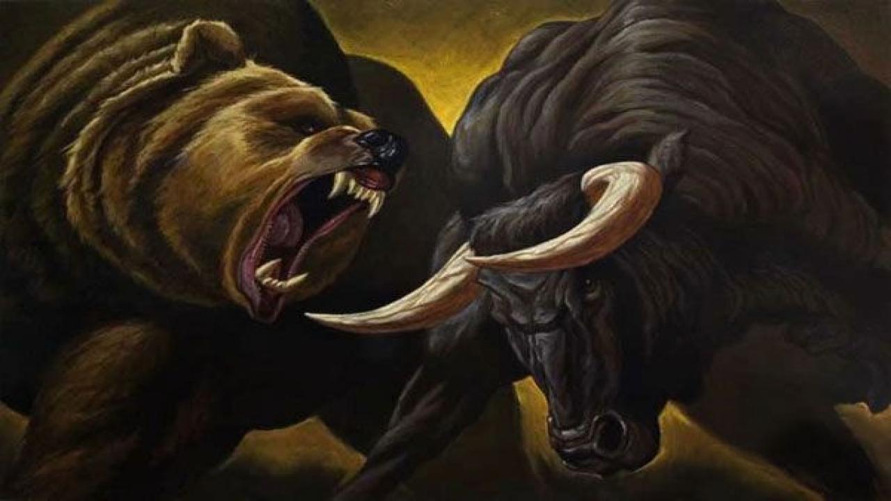 классических картинки бык и медведь дышат угольной